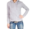 Толстовка 4thes3ts с капюшоном 4T_LADY_BASIC_ZIP_HOODIE_GREY 2010 г артикул 13105v.